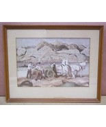 Custom Made Horse Team Print Unsigned 11 3/4in x 7 3/4in  Vintage Paper - $32.51
