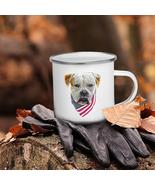 American Bulldog Camping Enamel Coffee Mug - $24.95