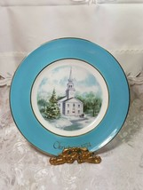Vintage AVON Christmas Plate Series COUNTRY CHURCH 2nd Edition 1974 WEDGWOOD