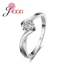 Sterling Silver Ring Jewelry Have Stamp High Cz Zircon Wedding Rings Women - $9.04