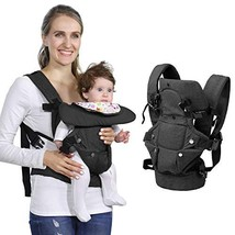 Baby Soft Carrier, 4-in-1 Ergonomic Convertible Carrier with Adjustable Straps a