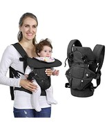 Baby Soft Carrier, 4-in-1 Ergonomic Convertible Carrier with Adjustable Straps a - £22.67 GBP