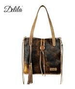 Montana West Delila Hair-On hide 100% Genuine Leather Tote Shoulder Bag ... - $169.95