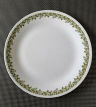 "10 1/4"" Corning Corelle Spring Blossom Dinner Plate Green Flowers Crazy Daisy - $3.47"