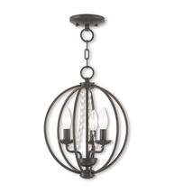 Mini Chandeliers 3 Light Arabella With Steel Drum English Bronze 12in 18... - £84.87 GBP