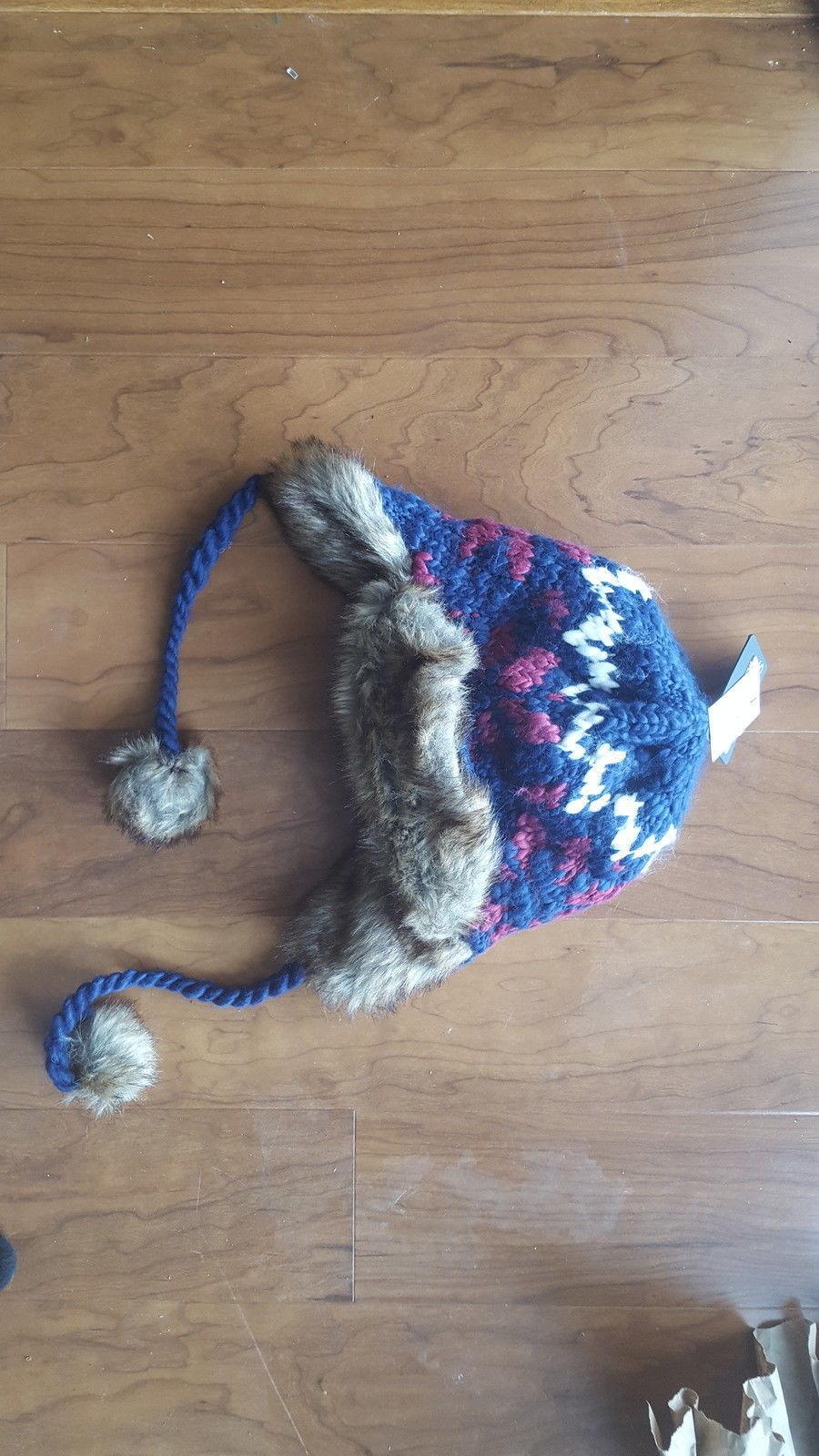 8b1696a3a44aa NWT Chaos Girls  Navy Peruvian Knit Faux Fur and 27 similar items