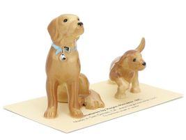 Hagen Renaker Dog & Puppy Labrador Retriever Golden Ceramic Figurine Set image 6