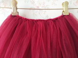 Flower Girl Skirts, Baby Tutu Skirt, Infant Tulle Skirt - Red, Elastic Waist image 5
