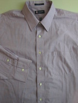 CHAPS Mens Dress Shirt Size XL 17.5 - 34/35 Purple Pattern Formal Long Sleeve - $11.97