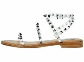 Steve Madden Travel Clear Women's Ankle Strap Stud Flat Sandals - $74.00