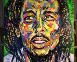 Bob Marley Spontaneous Realism ABSTRACT Modern Oil Painting on canvas - ₹56,063.68 INR