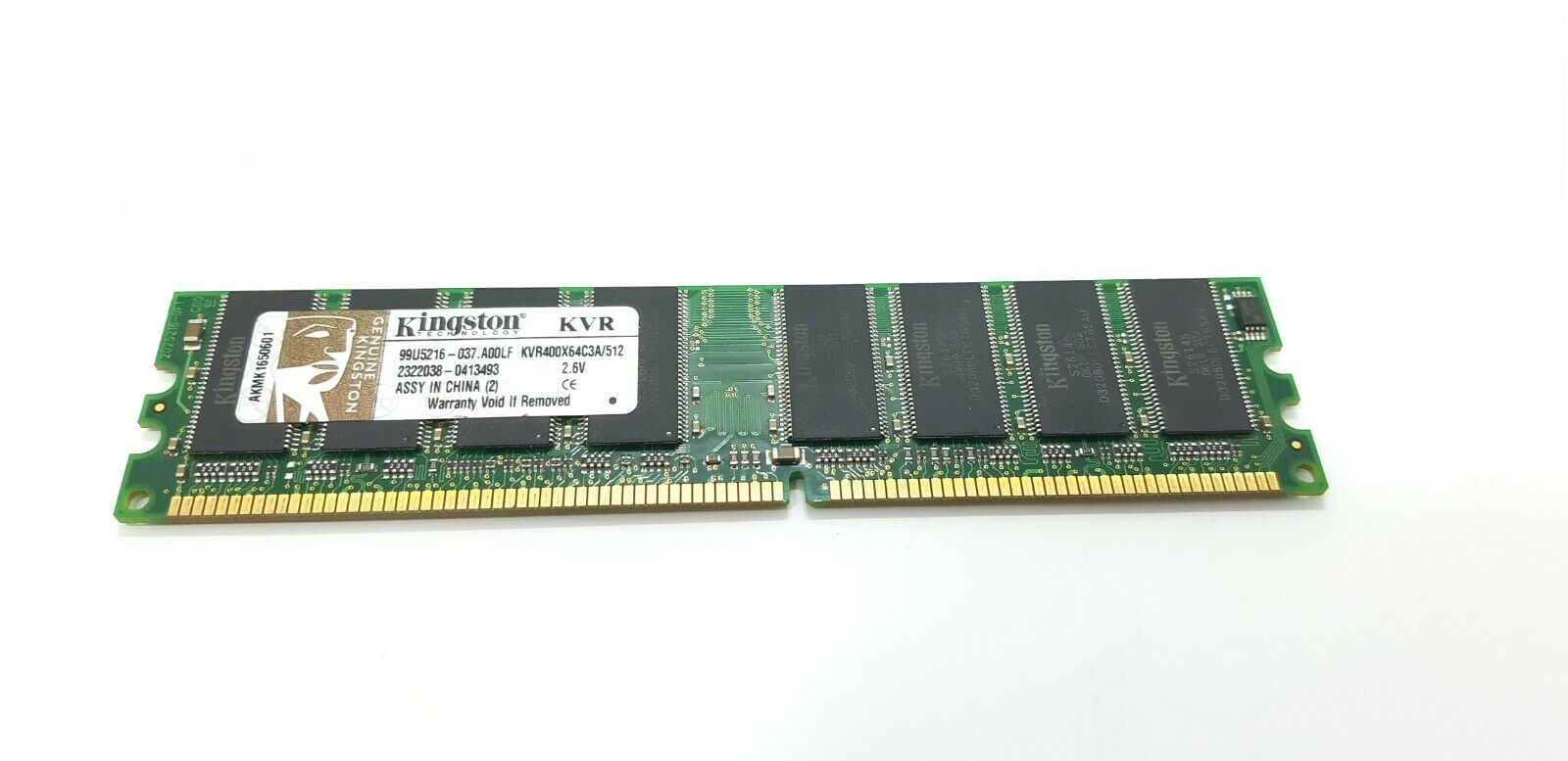 Primary image for Kingston PC3200 (DDR-400) 512MB DIMM 400 MHz PC-3200 DDR Memory KVR400X64C3A/512