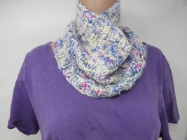 Handcrafted Knitted Cowl 100% Merino Wool Female Adult Ivories Plaids & ... - $44.36