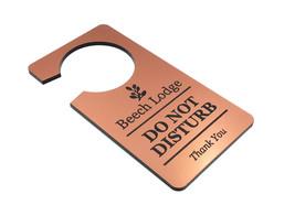 Personalisiert Kupfer Metallic Effekt Türhänger Großer Schild Acryl Ideal für H - $28.33