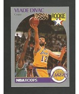 1990-91 NBA Hoops # 154 Vlade Divac -RC -Los Angeles Lakers -Mint  - $1.00