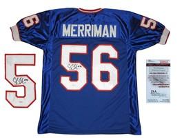 Shawne Merriman Buffalo Bills Signed Autographed Blue Jersey Jsa - $148.49