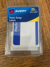 Avery Name Badge Labels - $7.72