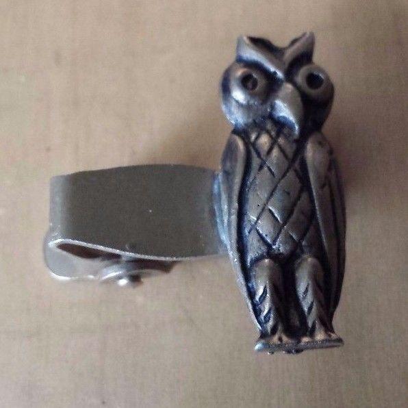 """Vintage Bronze Toned Owl Tie Clip Tie Clasp 3/4"""" - $22.76"""