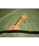 Kidsline Giraffe Baby Blanket Green White Polka Dot Boy Girl Unisex Brow... - $29.68