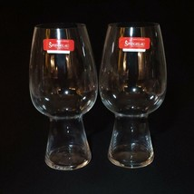 2 (Two) SPIEGELAU STOUT BEER GLASSES Blown Crystal, 19-Ounce - Signed - $20.89
