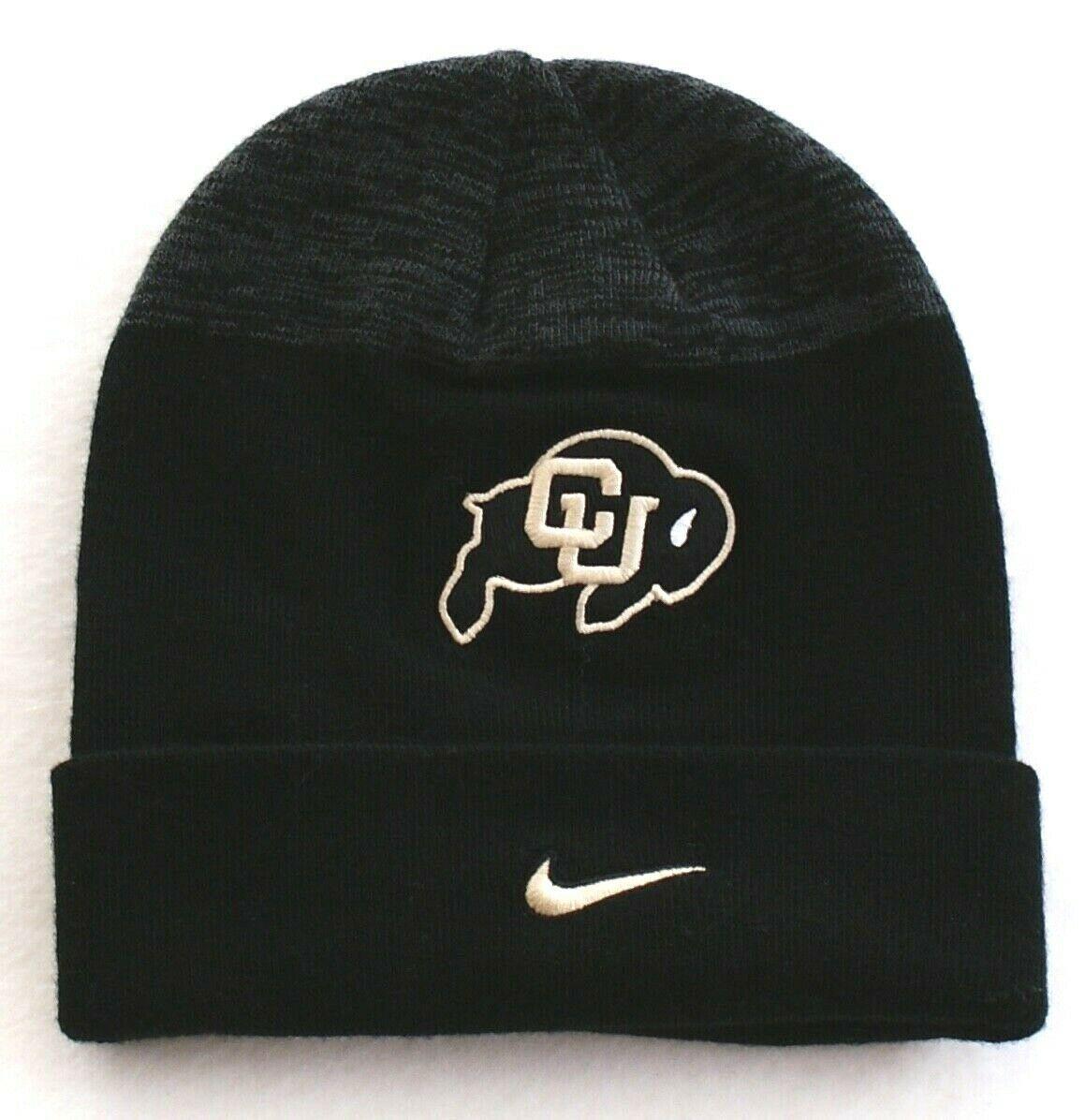 save off 1f4ba 0e6e6 Nike Colorado Buffaloes Black Knit Cuff Beanie Youth Boy s 8-20 NWT -  39.59