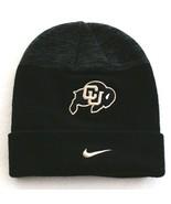 Nike Colorado Buffaloes Black Knit Cuff Beanie Youth Boy's 8-20 NWT - $39.59