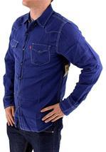 NEW LEVI'S MEN'S LINEN LONG SLEEVE BUTTON UP CASUAL DRESS SHIRT BLUE 8151400 image 3