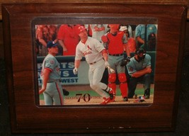 Mark McGwire 70th Home Run Photo File Print Mounted Wooden Plague - $12.86