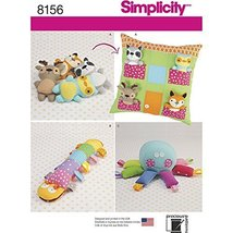 Simplicity Creative Patterns Simplicity Pattern 8156 Stuffed Animals with pillow - $15.19