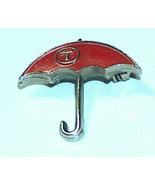 Vintage Travelers Insurance Red Umbrella Advertising Lapel Hat Pin Button - $18.20