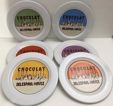 CHOCOLATE By Pottery Barn Set of 6 Dessert/Salad Plates (Delespaul-Havez) - $29.69