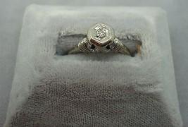19K Gold .08ct Genuine Natural Diamond Ring (#J964) - $295.00