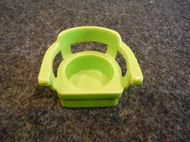 Vintage Fisher Price Lime Green Captain's Chair Dot Mark on Back - $1.08