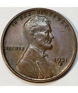 1931S Lincoln Wheat Cent Nice Looking Key Date Coin Lot V 101 - $121.51