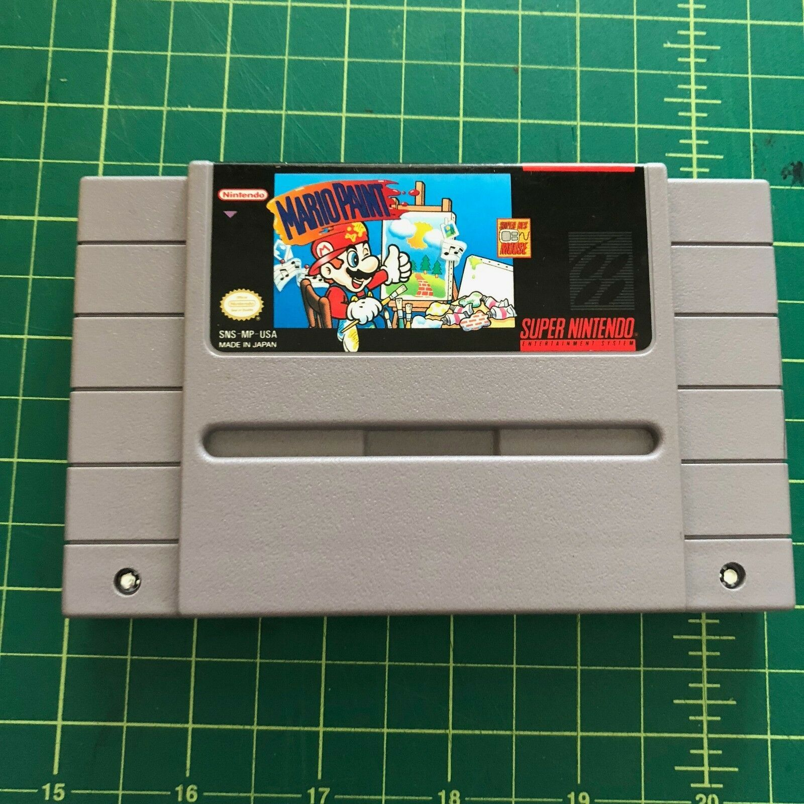 Mario Paint (Super Nintendo Entertainment System, 1992) cartridge only image 1