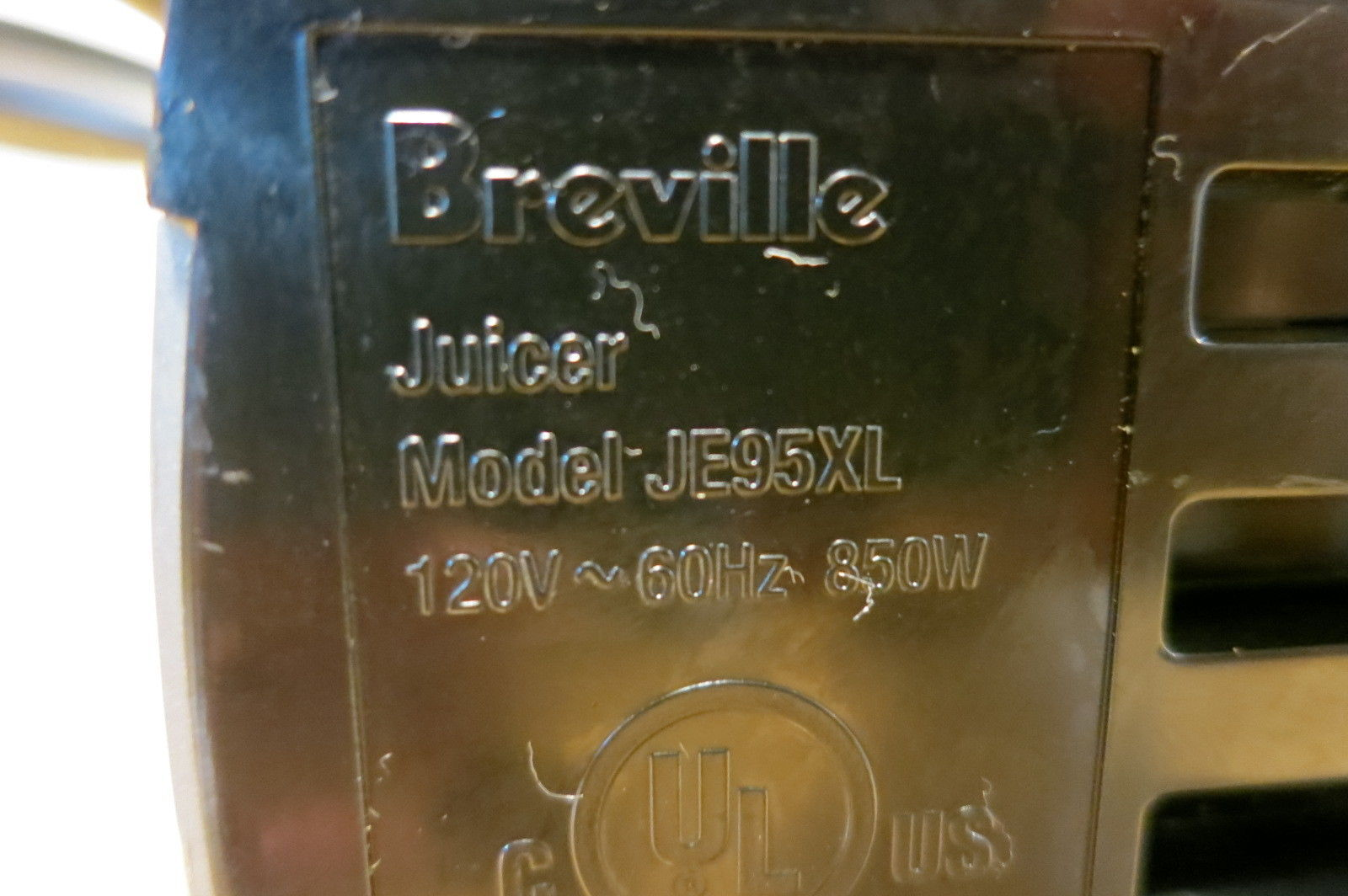 Breville Juice Fountain Juicer JE95XL JE98XL Replacement Base Motor