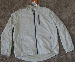 $115 FIELD & STREAM WIND JACKET COAT STONE BEIGE L LG LIGHTWEIGHT FULL Z... - $46.71
