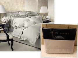 $355.00 Ralph Lauren Langdon Solid Full/Queen Duvet Cover, Vintage Silver - $124.39
