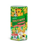 10 BAGS Lotte Koala's March Chocolate Filled Cookie Family Pack 樂天熊仔餅 FR... - $15.99