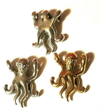 Octopus Cord Hugger Fine Pewter Pendant Charm 13x18x5mm