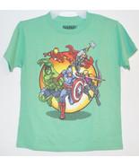 Marvel Avengers Boys T-Shirt Pixiled Iron Man Hulk Thor Etc Size Medium ... - $9.59