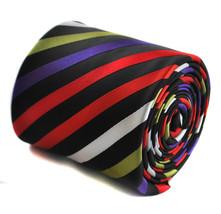 Frederick Thomas mehrfarbig Rainbow gestreift Handgefertigte Herren-Krawatte - $24.54