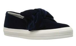 New in Box NINE WEST French Navy Onosha Velvet Fashion Sneakers Slip-On 6.5 - $49.49