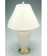 Lenox Masterpiece Iris Porcelain Table Lamp with Shade Quoizel Ivory 32.... - $517.00