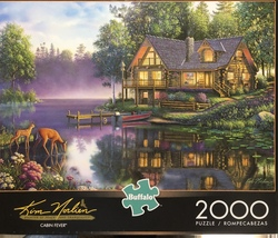 Buffalo Games Jigsaw Puzzle 2000 Pieces CABIN FEVER 38.5 x 26.5 In with Poster image 9