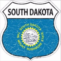 "South Dakota State Flag Distressed 11"" x 11"" Novelty Highway Shield Meta... - $9.95"