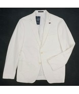 NEW MENS PSYCHO BUNNY WHITE COTTON SOFT TAILORED BLAZER JACKET SIZE 40R - $48.26
