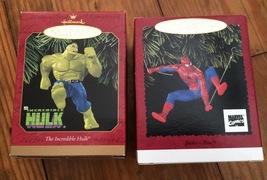 Spider-Man & Incredible Hulk Hallmark Ornaments - $18.00