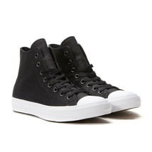 Converse Mens CTAS II Hi Canvas 150143C Black/White Sizes 8 - 9 - 10 Unisex - $59.99