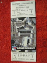 NY Rangers 1995 Stanley Cup Playoffs Finals 3rd Round Game 1 Ticket Stub... - $7.91